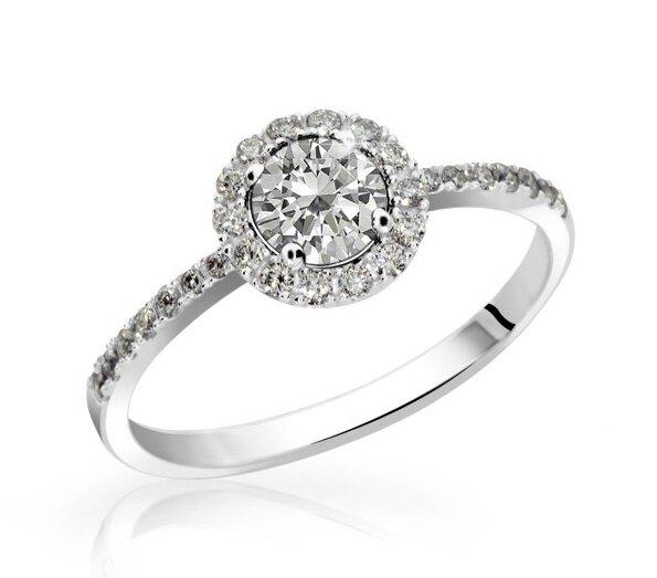 Prsteň z bieleho zlata DF 3098 b + darčekové balenie zdarma 9b6a87efe98