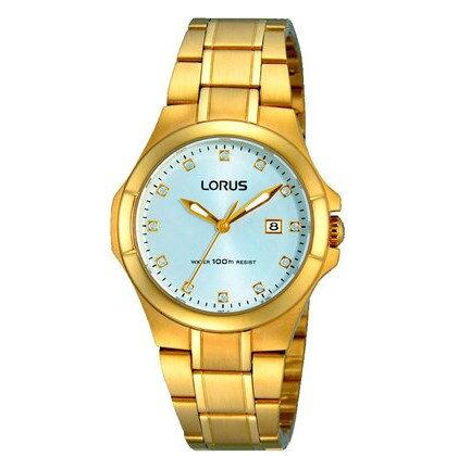 6f1aabaf2 Lorus RJ286AX-9 dámske pozlátené hodinky s kamienkami na číselníku