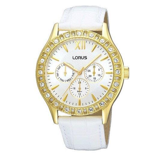 Lorus RYR82AX9 dámske hodinky s bielym koženým remienkom 64204b2c17