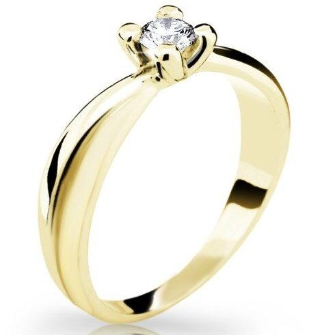d277d762c Zásnubný prsteň DF 1861 ž, žlté zlato 585/1000, s briliantom 0,220ct +  darčekové balenie zdarma