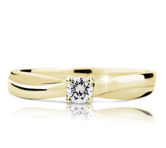 6aa6aec96 Zlatý zásnubný prsteň s diamantom DF 1906 ž 0,140ct + darčekové balenie  zdarma