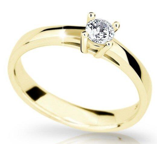 d6521e5f9 Zlatý zásnubný prsteň s diamantom DF 1902 ž 0,250ct + darčekové balenie  zdarma