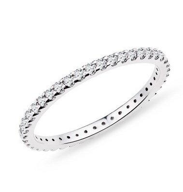 Prsteň z bieleho zlata K505 b + darčekové balenie zdarma a80d084c3e4