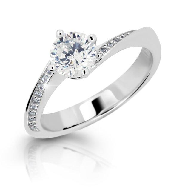 88c553201 Dámsky zásnubný prsteň z bieleho zlata DF 2922 b + darčekové balenie zdarma