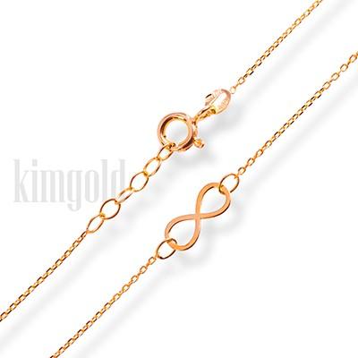 04ca4d74e Dámsky náramok s nekonečnom zo žltého zlata K516 ž