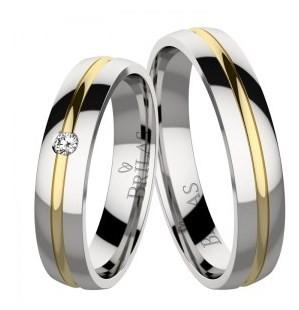 d50ee53b9 Connie Steel svadobné prstene z chirurgickej ocele. Kombinované ...