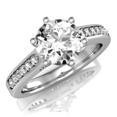 47ce8f681 Briliantový prsteň z bieleho zlata R230 0,356 ct + darčekové balenie zdarma