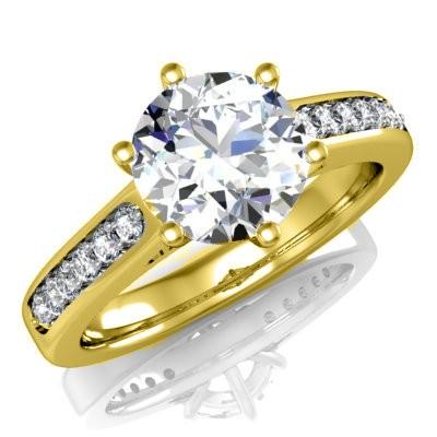 f332077d1 Zásnubný prsteň R047 ž zo žltého zlata + darčekové balenie zdarma