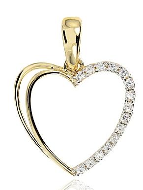 b9f7b8cc0 Prívesok srdce 585/1000 K347 zo žltého zlata väčšie