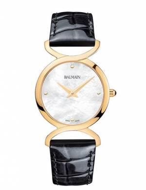 e70e67bfa Balmain Taffetas II dámske elegantné hodinky s čiernym koženým... Balmain  Taffetas II B4670.32.86