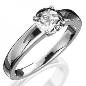 Zásnubný prsteň R075b z bieleho zlata. Zásnubný prsteň R075b + darčekové  balenie zdarma 68c10e80a14