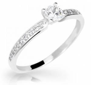 Zásnubný prsteň R202 z bieleho zlata. Možnosť vyhotovenia aj s ... 5ef2ada79c4
