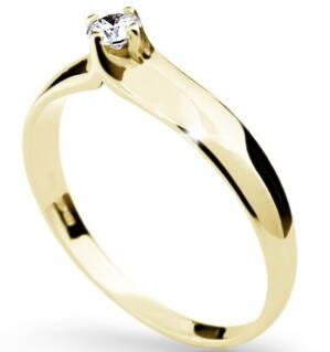 Zlatý zásnubný prsteň s briliantom DF 1891ž 0 26b765403f8