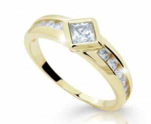 Zásnubný prsteň DF2527ž zo žltého zlata. Zásnubný prsteň DF 2527 ž + darčekové  balenie zdarma 2f68eed14cb