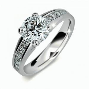 ... z bieleho zlata so zirkónmi . Zásnubný prsteň DF 2088b + darčekové  balenie zdarma 6f25acf05fa
