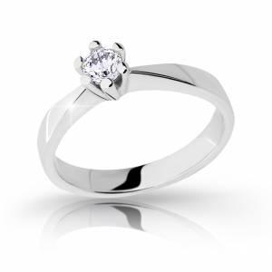 Zásnubný prsteň z bieleho zlata DF 2286 b + darčekové balenie zdarma 2157cf2a34c