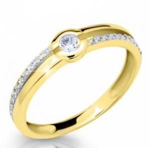 Snubny prsteň zo žltého zlata DF 2543 ž + darčekové balenie zdarma 3aad5a346f3